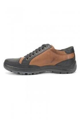 Ramero Siyah-Taba RMR-6046 Hakiki Deri Erkek Ayakkabı