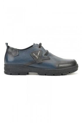 Pandew Lacivert RMR-4008 Hakiki Deri Erkek Ayakkabı