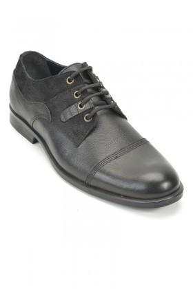 Pandew Siyah RMR-8022 Hakiki Deri Erkek Ayakkabı