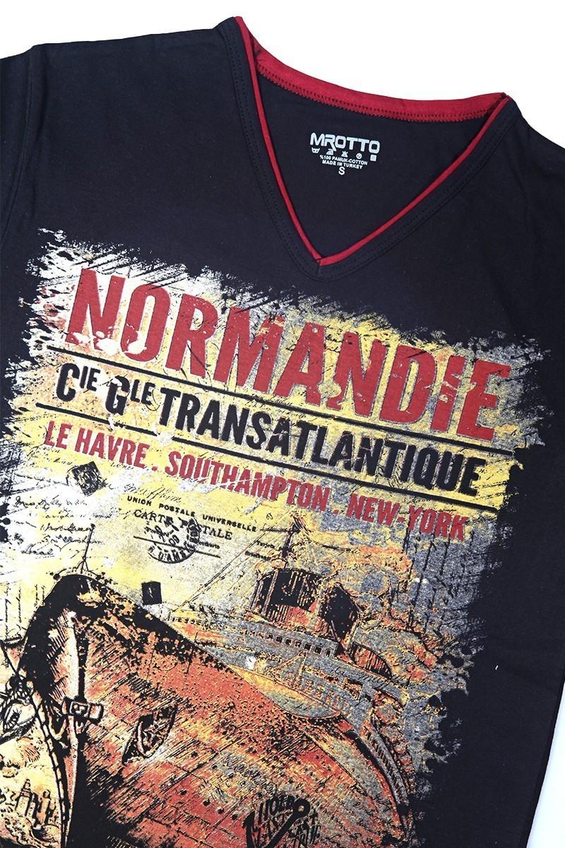 MTT Siyah MTT-136 Erkek Tişört