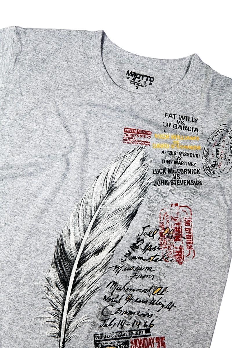 MTT Gri MTT-130 Erkek Tişört