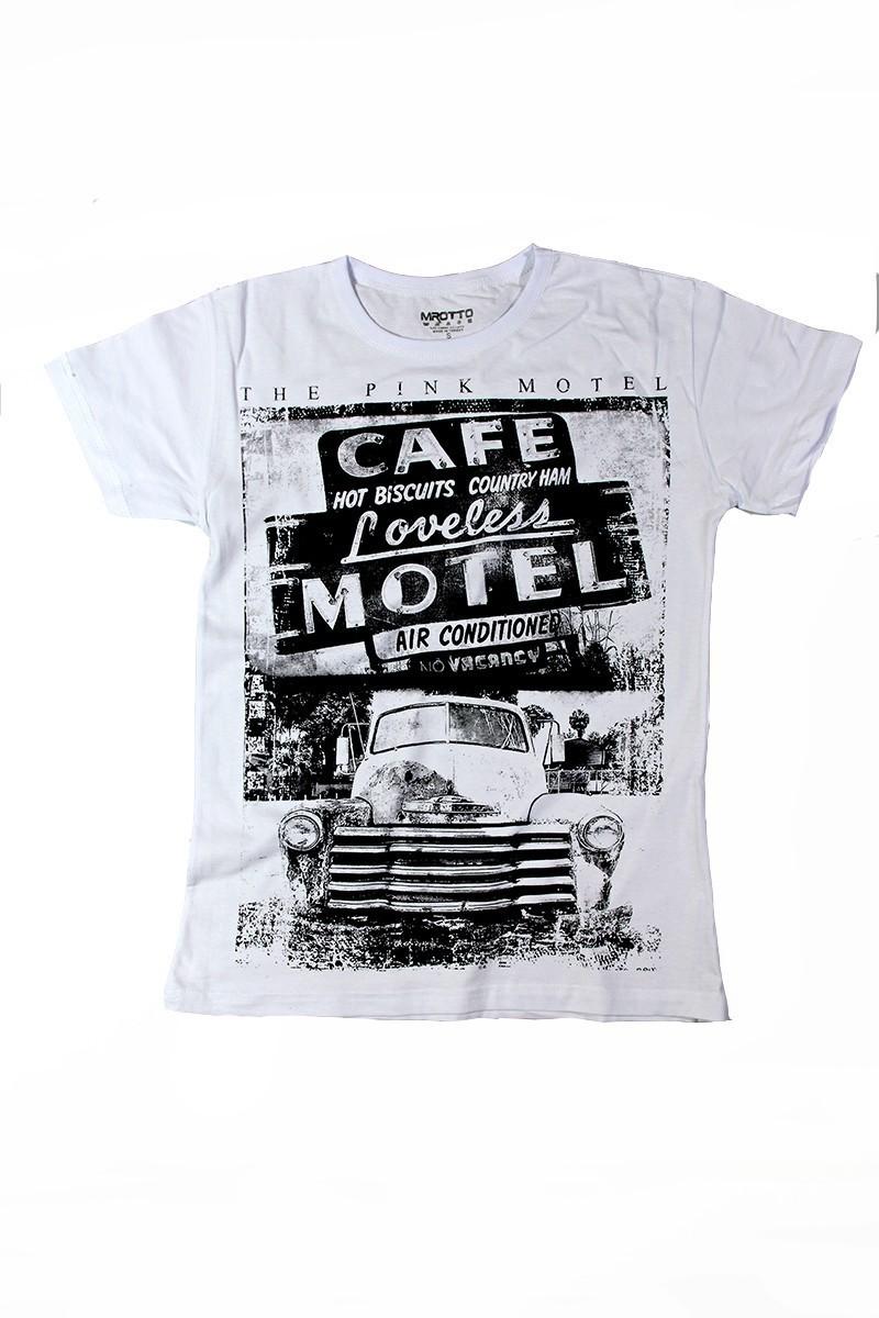 MTT Beyaz MTT-127 Erkek Tişört