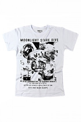 MTT Beyaz MTT-119 Erkek Tişört