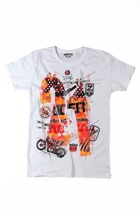 MTT Beyaz MTT-118 Erkek Tişört