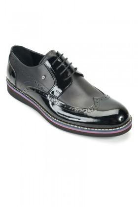 Wenetti Siyah WNT-2222 Hakiki Deri Erkek Ayakkabı