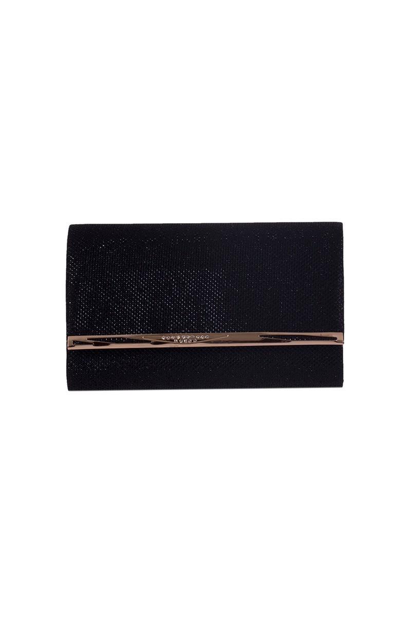 OB Siyah OB-6K0A7101 Simli Portföy Çanta