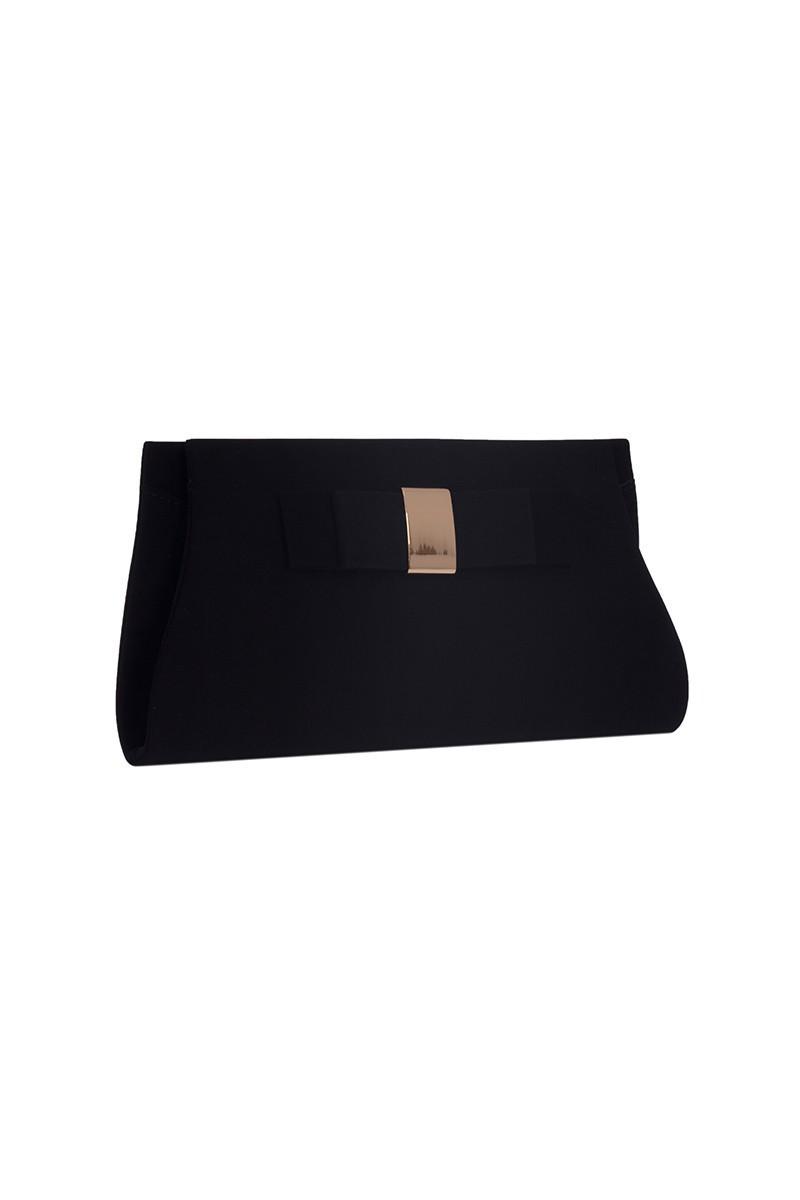 OB Siyah OB-6K0A7087 Kadife Portföy Çanta