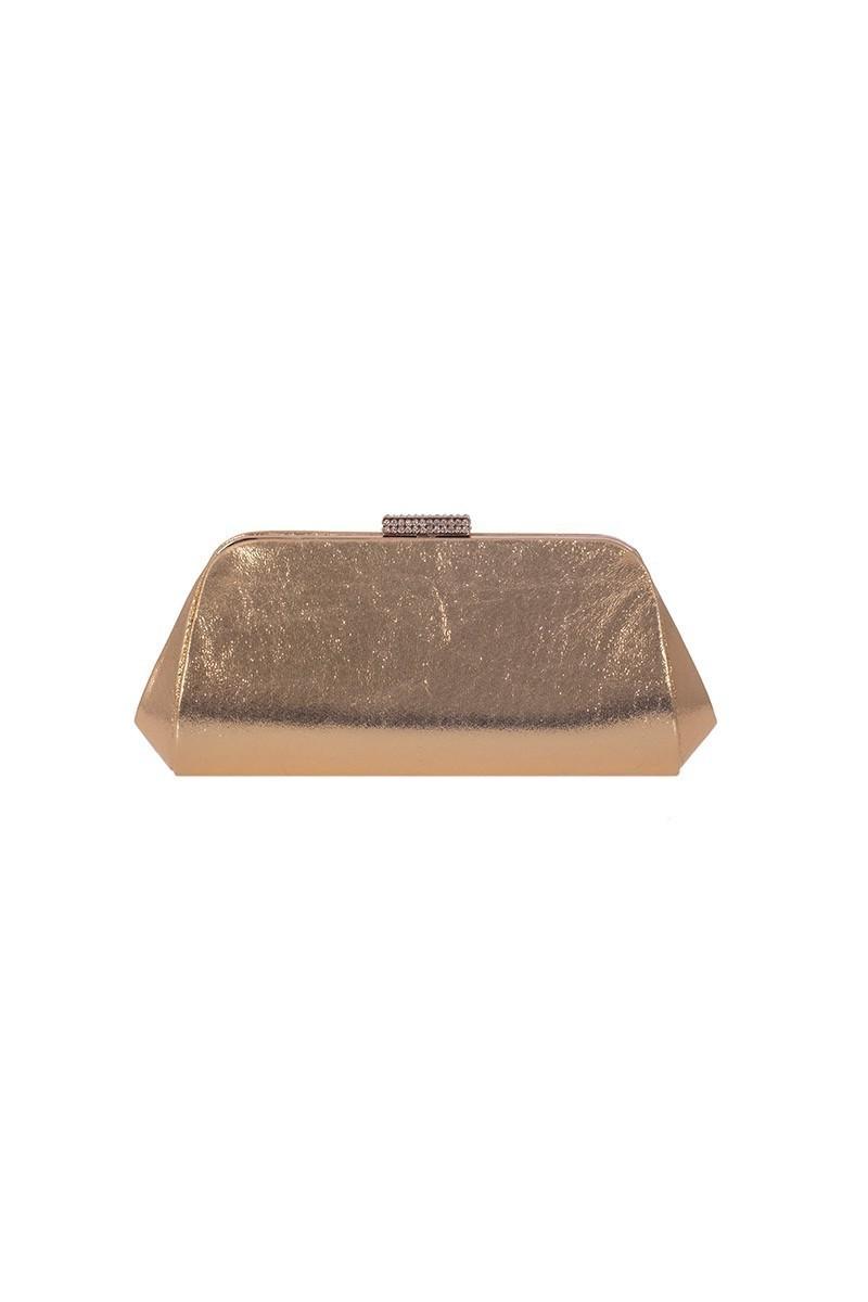 OB Gümüş Rengi OB-6K0A7031 Simli Taşlı Portföy Çanta