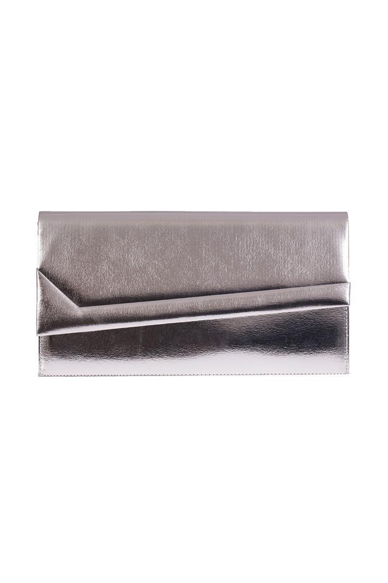 OB Gümüş Rengi OB-6K0A6974 Rugan Portföy Çanta