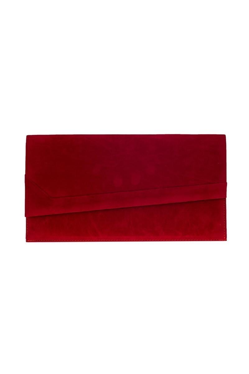 OB Kırmızı OB-6K0A6952 Kadife Portföy Çanta