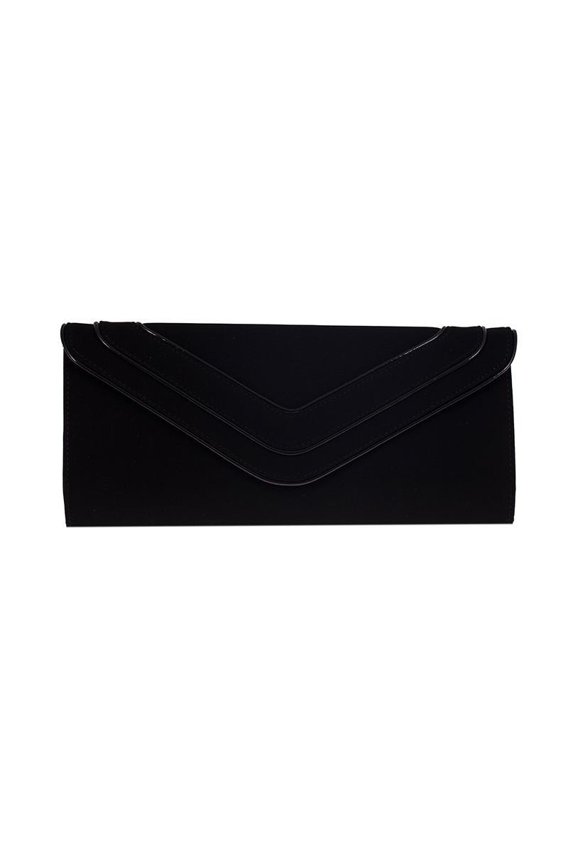 OB Siyah OB-6K0A6920 Kadife Portföy Çanta