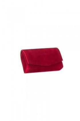 OB Kırmızı OB-6K0A6810 Kadife Portföy Çanta