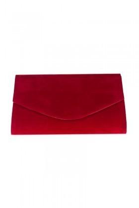 OB Kırmızı OB-6K0A6529 Kadife Portföy Çanta