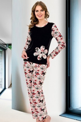 Lady Lingerie Karışık Renkli LL-9227 Bayan Pijama