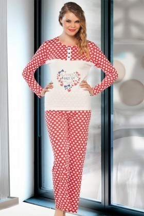 Lady Lingerie Karışık Renkli LL-9215 Bayan Pijama