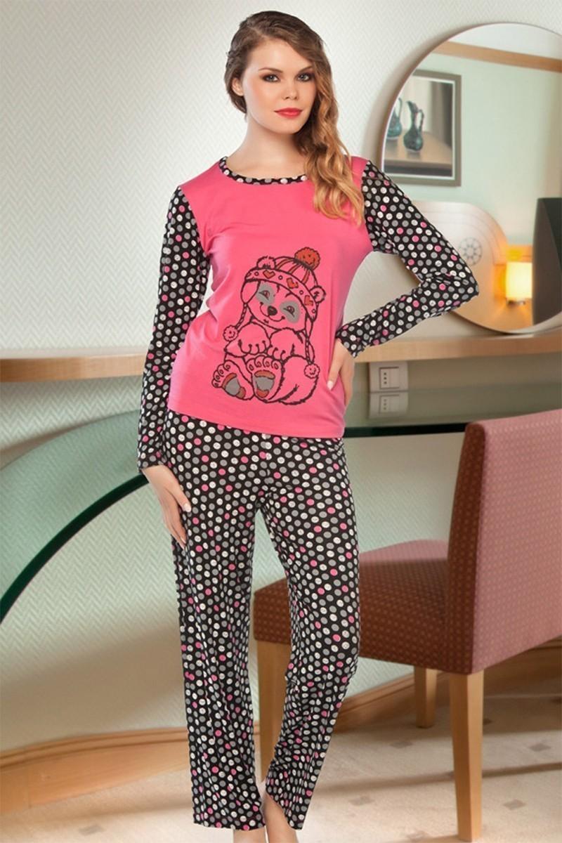 Lady Lingerie Gri LL-9204 Bayan Pijama