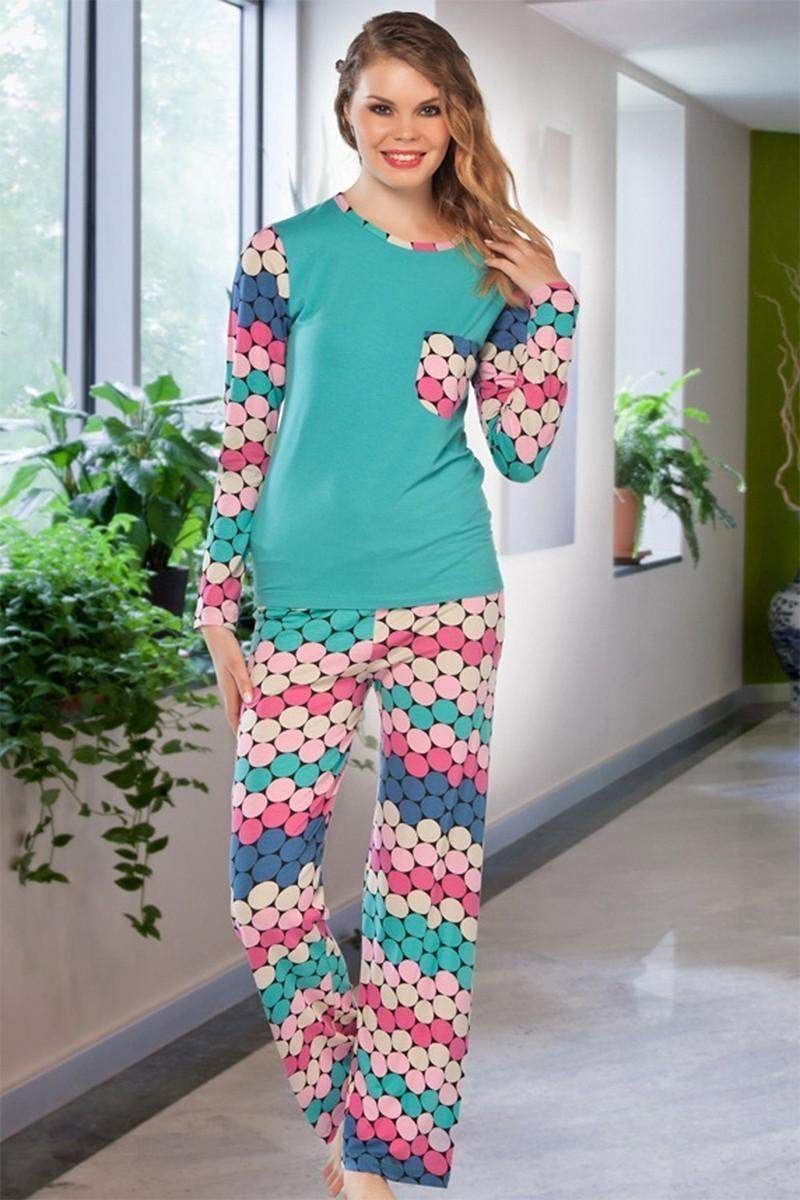 Lady Lingerie Turkuaz LL-9203 Bayan Pijama