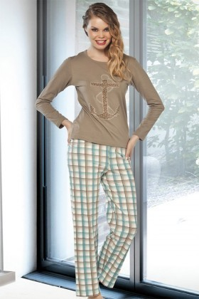 Lady Lingerie Karışık Renkli LL-9202 Bayan Pijama