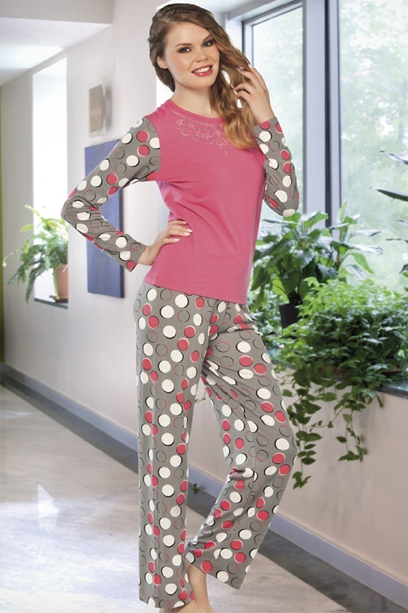 Lady Lingerie Karışık Renkli LL-9201 Bayan Pijama