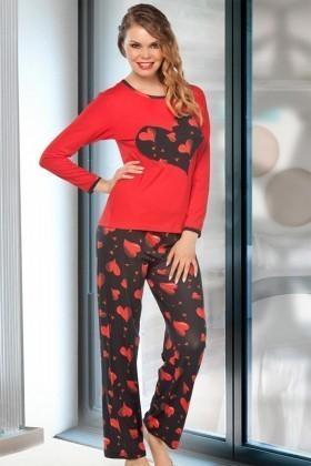 Lady Lingerie Kırmızı LL-9199 Bayan Pijama