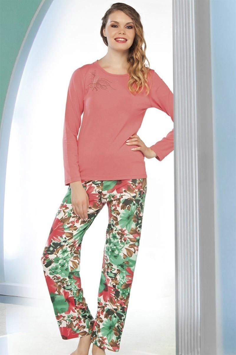 Lady Lingerie Karışık Renkli LL-9197 Bayan Pijama