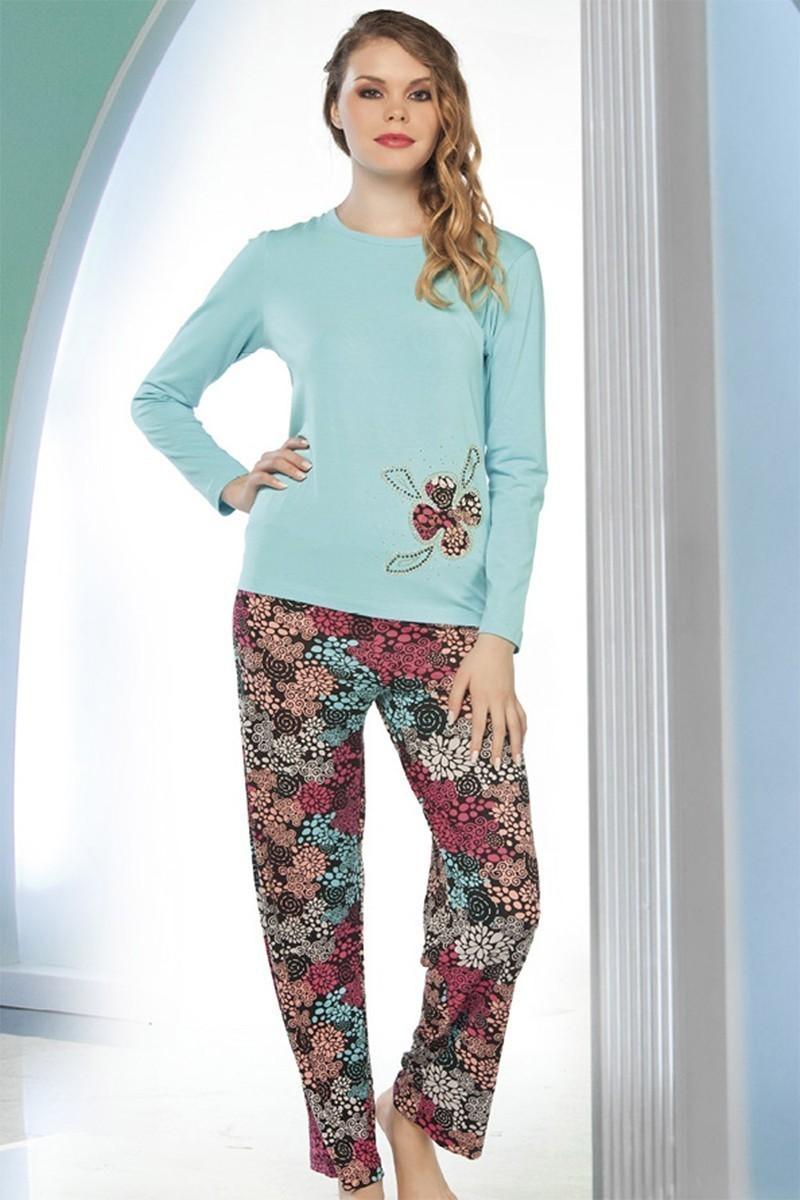 Lady Lingerie Mavi LL-9193 Bayan Pijama