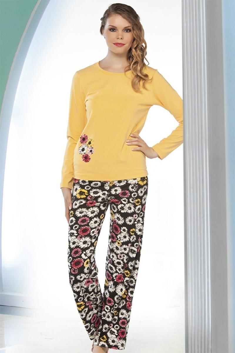Lady Lingerie Sarı LL-9192 Bayan Pijama