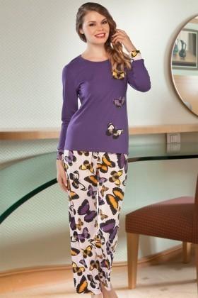 Lady Lingerie Mor LL-9191 Bayan Pijama
