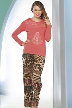 Lady Lingerie Karışık Renkli LL-9190 Bayan Pijama