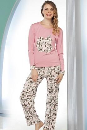 Lady Lingerie Pembe LL-9187 Bayan Pijama