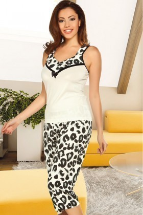 Lady Lingerie Beyaz LL-3982 Bayan Pijama