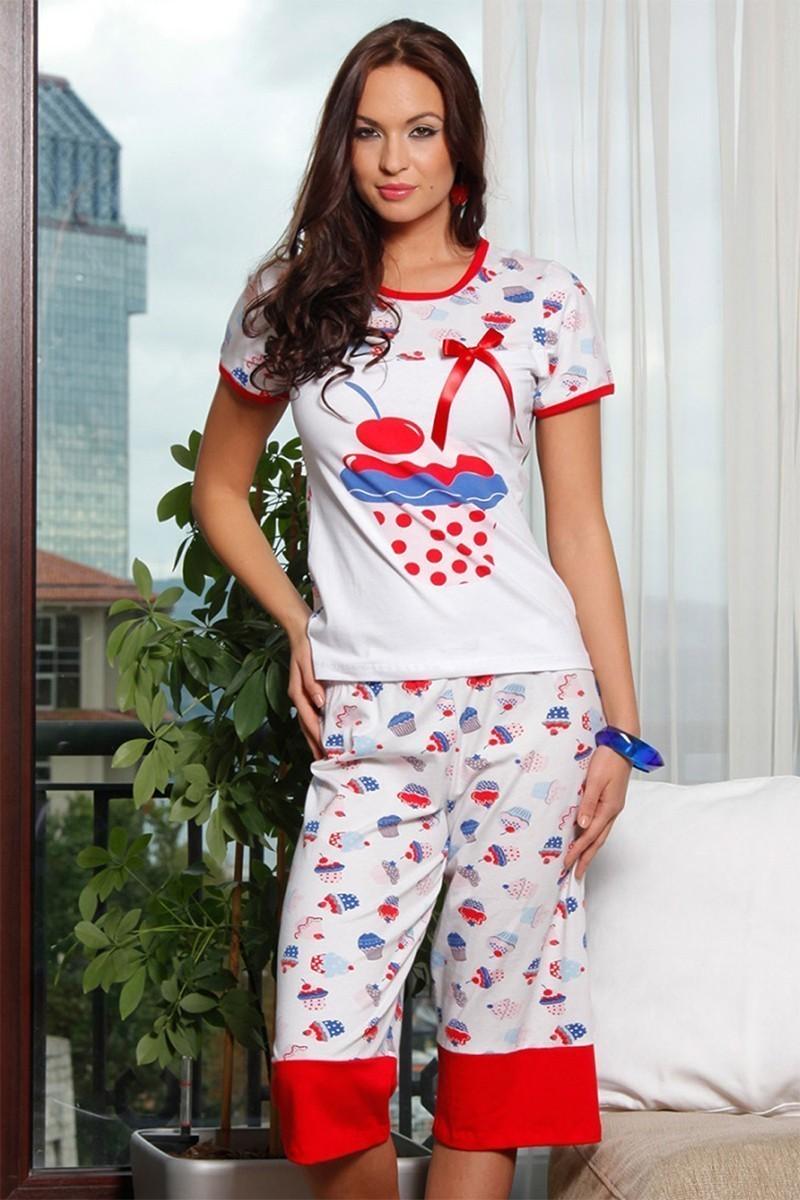 Lady Lingerie Beyaz LL-3902 Bayan Pijama