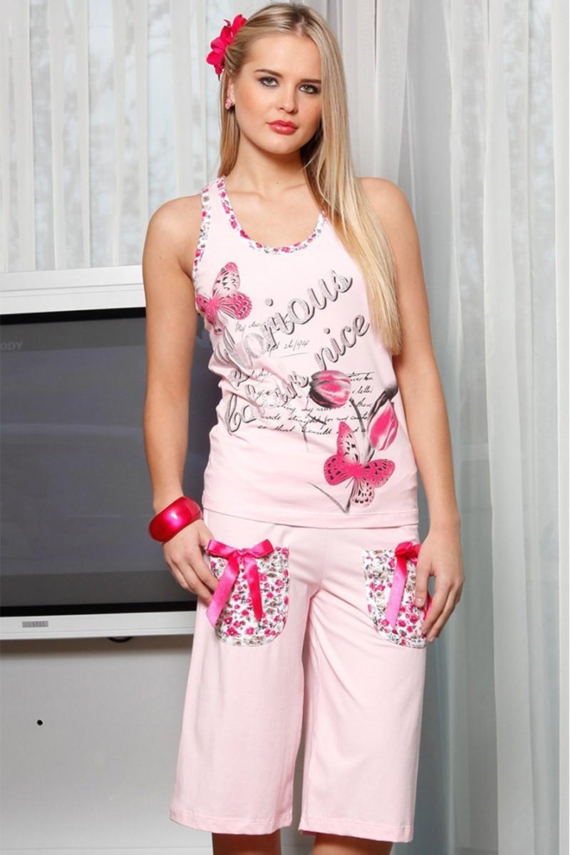Lady Lingerie Pudra LL-3897 Bayan Pijama