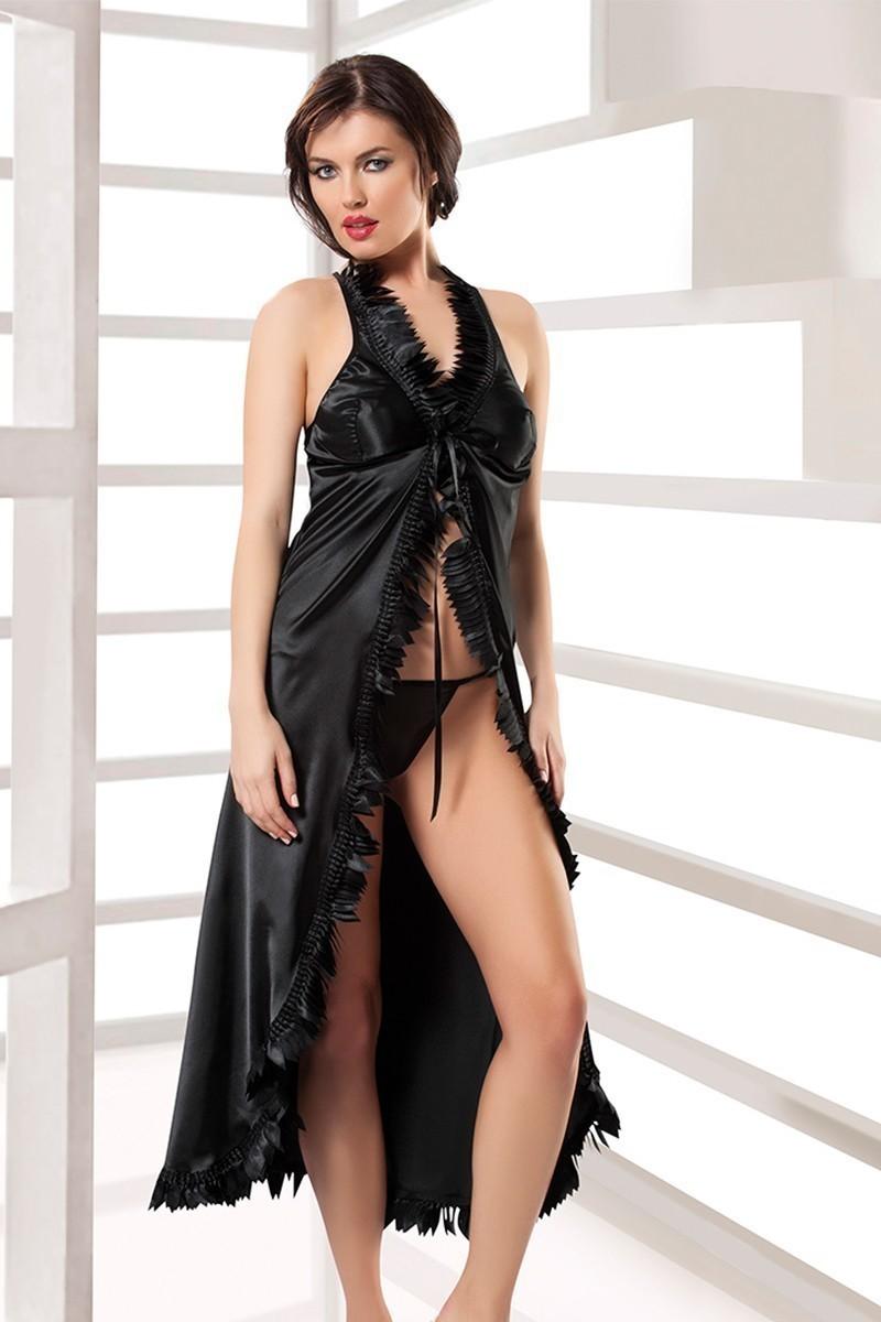 Sistina Siyah SSN-M-042 Bayan Gecelik