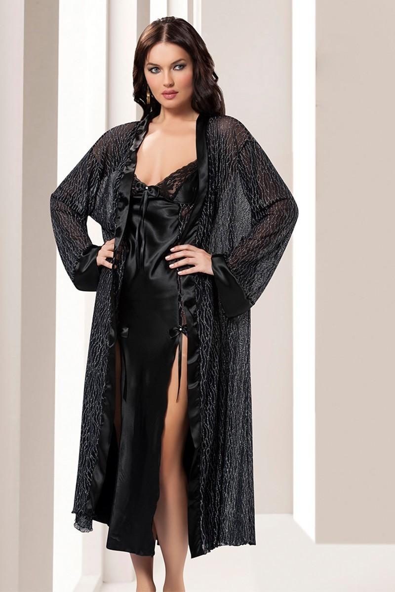 Sistina Siyah SSN-1491 Bayan Gecelik