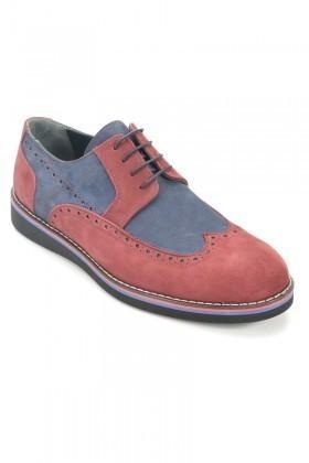 Wenetti Bordo-Mavi WNT-3333 Hakiki Deri Erkek Ayakkabı