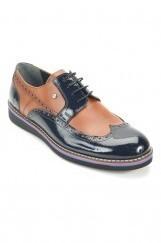 Hakiki Deri Erkek Rugan Ayakkabı