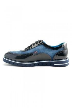 Pandew Lacivert-Mavi PNDW-75 Hakiki Deri Erkek Ayakkabı