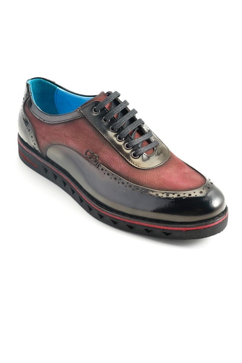 Pandew Siyah-Bordo PNDW-75 Hakiki Deri Erkek Ayakkabı