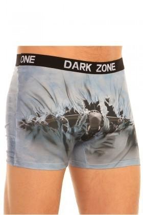 Dark Zone Mavi-Siyah DZN-1004 3D Erkek Boxer