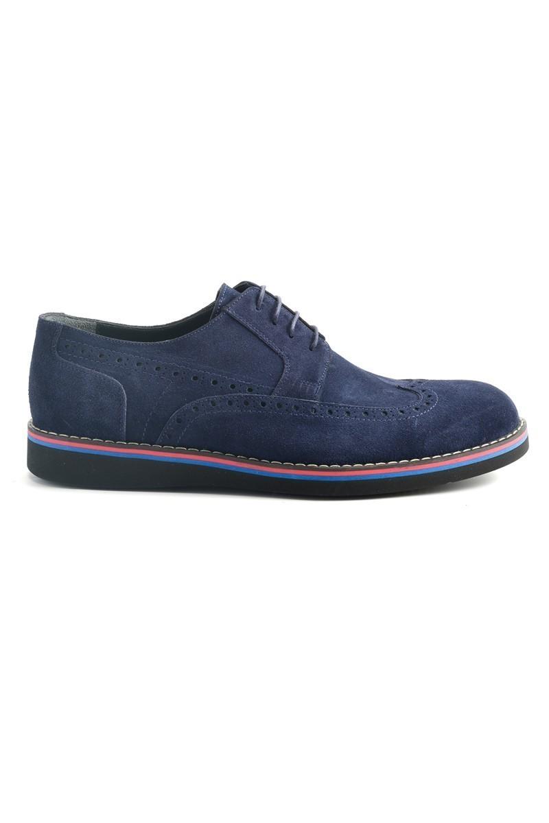 Wenetti Lacivert WNT-120 Hakiki Deri Erkek Ayakkabı
