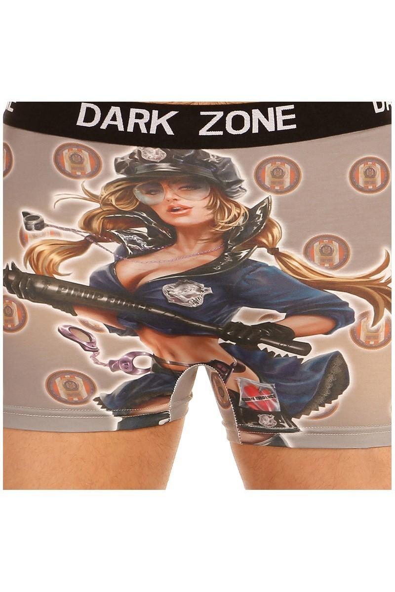Dark Zone Gri DZN-1025 3D Erkek Boxer