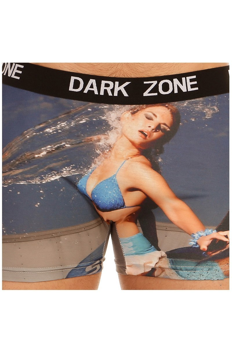 Dark Zone Mavi DZN-1038 3D Erkek Boxer