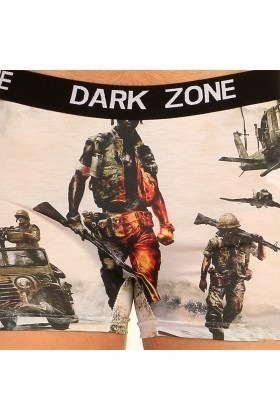 Dark Zone Krem DZN-1044 3D Erkek Boxer