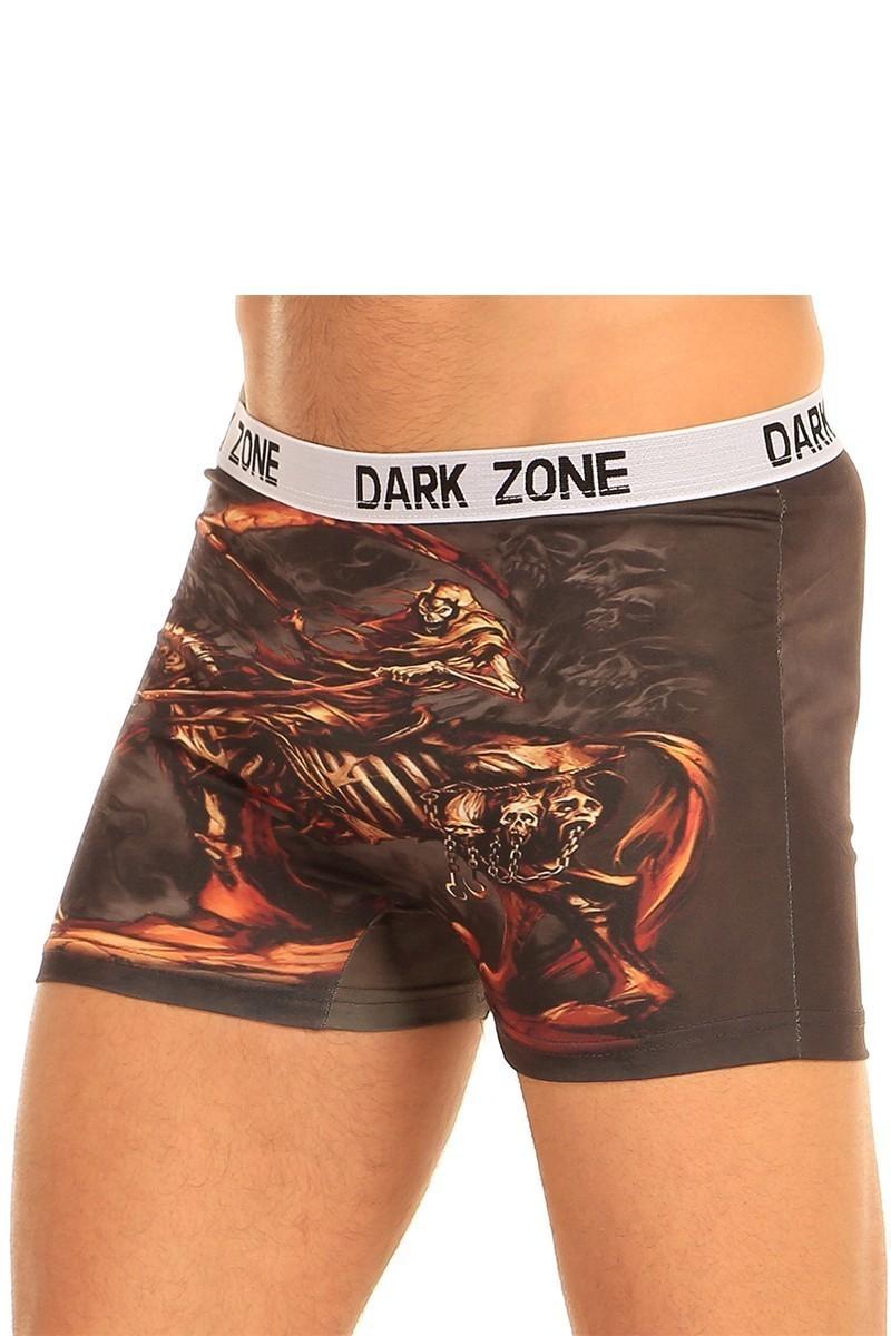 Dark Zone Karışık Renkli DZN-1051 3D Erkek Boxer
