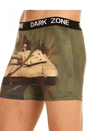 Dark Zone Koyu Yeşil DZN-1001 3D Erkek Boxer