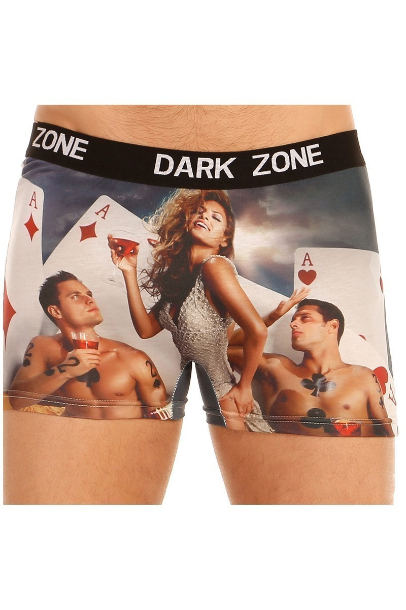 Dark Zone Karışık Renkli DZN-1016 3D Erkek Boxer