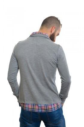 DAS Gri DS-N01UK027 Erkek Sweatshirt