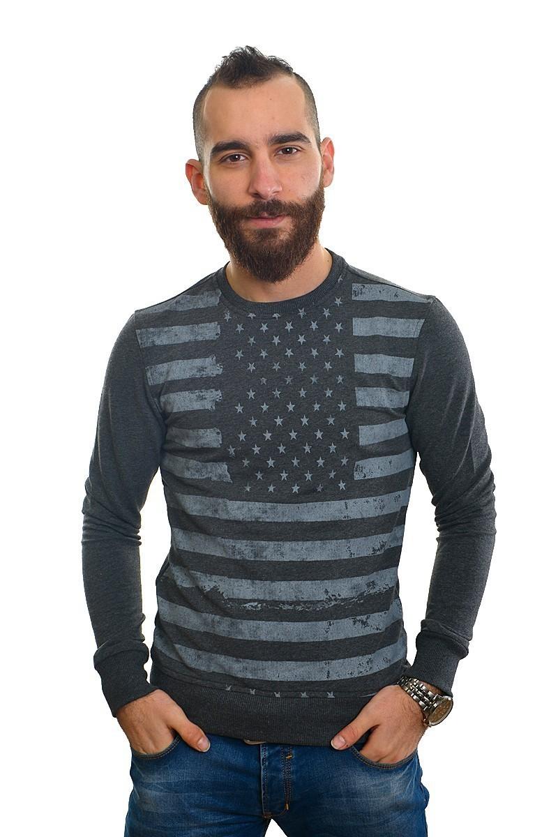 DAS Gri Melanj DS-201UK497-1 Erkek Sweatshirt