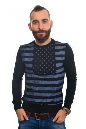 DAS Lacivert DS-201UK497 Erkek Sweatshirt